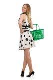 The woman in supermarket shopping concept Stock Photos