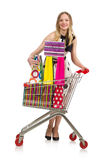 Woman in supermarket shopping concept Royalty Free Stock Photo