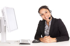 Woman support agent Stock Image