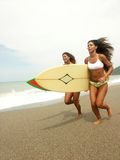 Woman surf. Stock Photos