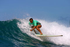 Woman Surf Champion Joy Monahan Stock Photo