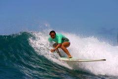 Woman Surf Champion Joy Monahan Stock Photo