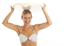 Woman with surfboard Stock Photo