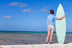 Woman with surfboard Royalty Free Stock Image