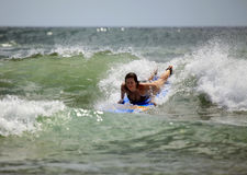 Woman-surfer Royalty Free Stock Photography