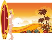 Woman surfer Stock Image