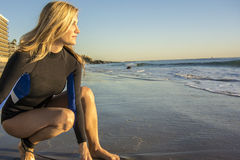 Woman Surfer Royalty Free Stock Photography