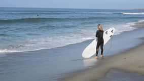 Woman Surfer stock video