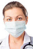 Woman surgeon in medical mask Stock Photos