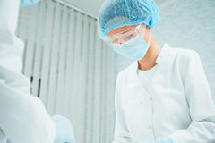 Woman surgeon Royalty Free Stock Photography