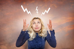 Woman with surprised expression face Royalty Free Stock Image