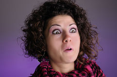 Woman surprised Royalty Free Stock Images