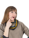 Woman surprised Stock Photography