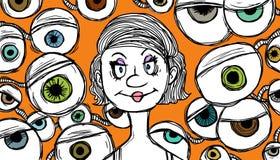 Extreme surveillance vector illustration