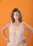Woman In Suspicion Stock Photography