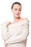 Woman in sweater Stock Photography
