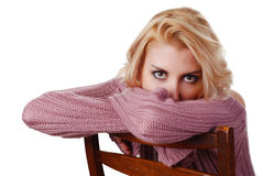 Woman in sweater Royalty Free Stock Images