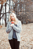 Woman in a sweater Royalty Free Stock Image
