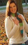 Woman in sweater outdoors Royalty Free Stock Photos