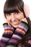Woman in sweater portrait Royalty Free Stock Photography