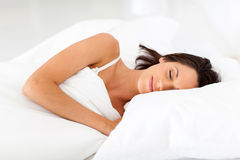 Woman sweet dreams Stock Photos