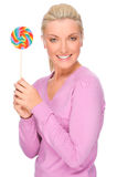 Woman with sweets Royalty Free Stock Image
