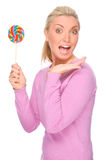 Woman with sweets Stock Image