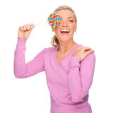 Woman with sweets Stock Images