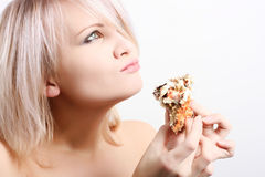 Woman with sweets Royalty Free Stock Images