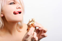 Woman with sweets Stock Photo