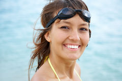 Woman is swimmer Royalty Free Stock Photo