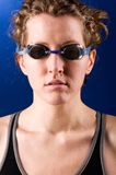 Woman swimmer Stock Photos