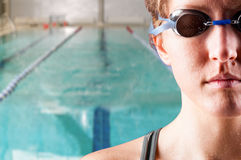 Woman swimmer Stock Images