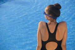 Woman Swimmer Stock Photo