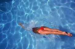 Woman swimming Royalty Free Stock Image