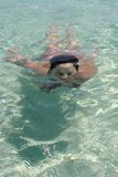 Woman swimming Royalty Free Stock Image