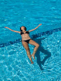Woman swimming Royalty Free Stock Photo