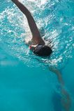 Woman swimming breath Royalty Free Stock Image