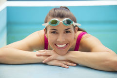 Woman with swimming goggles Royalty Free Stock Photo
