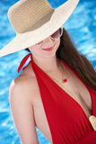 Woman Swimming In Pool Stock Images