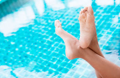 Woman in the swimming pool Stock Photography