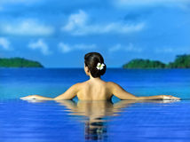 Woman in the swimming pool Royalty Free Stock Photos