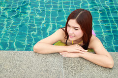 Woman in swimming pool Royalty Free Stock Photography