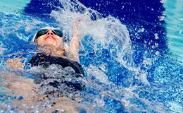 Woman swimming Royalty Free Stock Photography