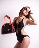 Woman in swimming suit Stock Photos