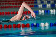 Woman swims Royalty Free Stock Photos