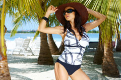 Woman in Swimsuit Stock Images