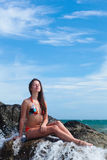 Woman in swimsuit Royalty Free Stock Photo