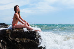 Woman in swimsuit Stock Photography