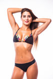 Woman in swimsuit with perfect abs Royalty Free Stock Images